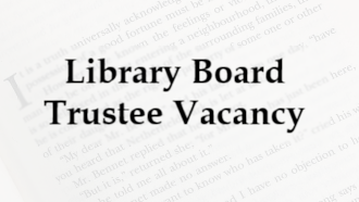 Library Board Trustee Vacancy